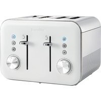 Buy BREVILLE High Gloss VTT687 4-Slice Toaster - White, White - Currys PC World