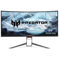 "ACER Predator X34P Quad HD 34"" Curved LED Gaming Monitor - Black"