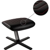 NOBLECHAIRS NBL-FR-PU-BR Footrest - Black & Red, Black
