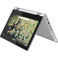 "Lenovo C340-11 11.6"" Intel Celeron 2 in 1 Chromebook - 32 GB eMMC, Grey,"