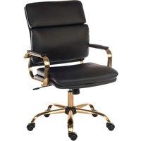 Teknik Vintage Faux-Leather Tilting Ergonomic Office Chair