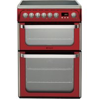 HOTPOINT Ultima DUE61R Electric Ceramic Cooker   Red  Red