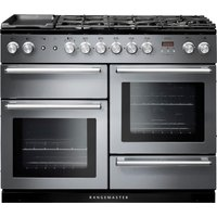 RANGEMASTER Nexus 110 Dual Fuel Range Cooker - Stainless Steel & Chrome, Stainless Steel