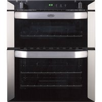 BELLING BI70G Gas Built-under Double Oven - Stainless Steel, Stainless Steel