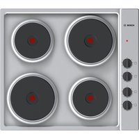 BOSCH Serie 2 PEE689CA1 Electric Solid Plate Hob - Steel, Red
