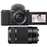 SONY ZV-E10L Mirrorless Vlogging Camera, E PZ 16-50 mm f/3.5-5.6 Lens & Telephoto Zoom Lens Bundle.