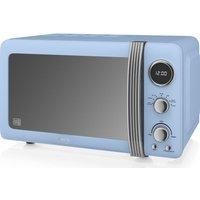 SWAN Retro Digital SM22030BLN Solo Microwave - Blue, Blue