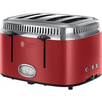 Buy RUSSELL HOBBS Retro Red 4SL 21690 4-Slice Toaster - Red, Red - Currys PC World