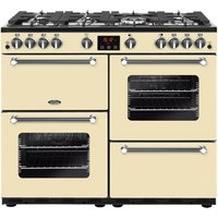 BELLING Kensington 100G 100 cm Gas Range Cooker - Cream and Chrome, Cream