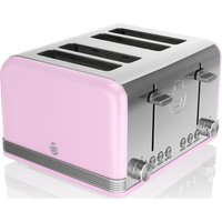 Buy SWAN Retro ST19020PN 4-Slice Toaster - Pink, Pink - Currys
