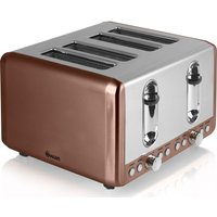 Buy SWAN ST14050COPN 4-Slice Toaster - Copper - Currys PC World