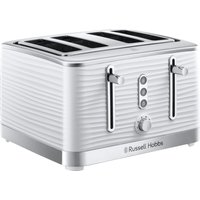 Buy RUSSELL HOBBS Inspire 24380 4-Slice Toaster - White, White - Currys PC World