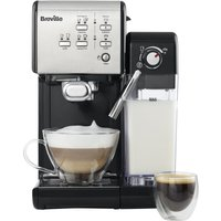 Breville One-touch Vcf107 Coffee Machine - Black & Chrome, Black