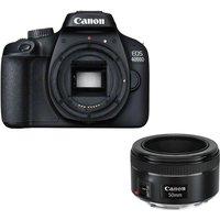 Canon Eos 4000d DSLR Camera & Ef 50 Mm F/1.8 Stm Standard Prime Lens Bundle