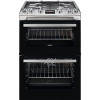 ZANUSSI ZCK66350XA 60 cm Dual Fuel Cooker - Stainless Steel, Stainless Steel
