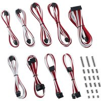 CABLEMOD Classic ModMesh C-Series Corsair AXi HXi RM Cable Kit - Red & White, Red