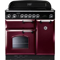 RANGEMASTER Classic 90 Electric Ceramic Range Cooker - Cranberry & Chrome, Cranberry