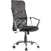ALPHASON Orlando AOC4087BLK Tilting Operator Chair - Black, Black