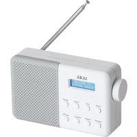 AKAI A61041G Portable DAB Radio - White, White