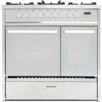 MONTPELLIER MRT91DFMX 90 cm Dual Fuel Range Cooker - Stainless Steel, Stainless Steel
