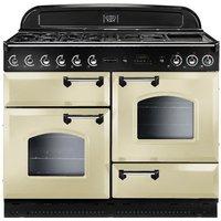 RANGEMASTER Classic 110 Gas Range Cooker - Cream & Chrome, Cream