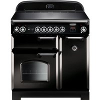 Rangemaster Classic 90 cm Electric Induction Range Cooker - Black and Chrome, Black