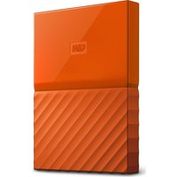 Wd My Passport Portable Hard Drive - 2 Tb, Orange, Orange