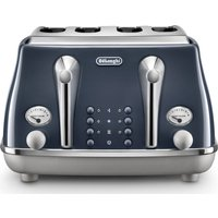 Buy DELONGHI Icona Capitals CTOC4003.BL 4-Slice Toaster - Blue, Blue - Currys