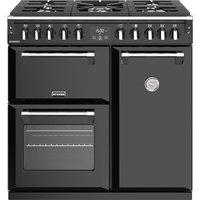 STOVES Richmond S900DF CC 90 cm Dual Fuel Range Cooker - Black, Black