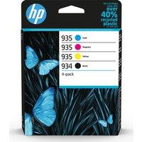 HP 934 & 935 Cyan, Magenta, Yellow & Black Ink Cartridges - Multipack, Cyan