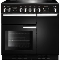 Click to view product details and reviews for Rangemaster Professional 90 Electric Ceramic Range Cooker Black Chrome Black.