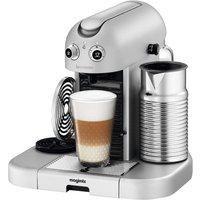 NESPRESSO 11335 Nespresso GranMaestria Coffee Machine & Aeroccino - Silver, Silver