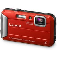 'Panasonic Lumix Dmc-ft30eb-r Tough Compact Camera - Red