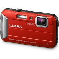 Panasonic Lumix DMC-FT30EB-R Tough Compact Camera - Red, Red