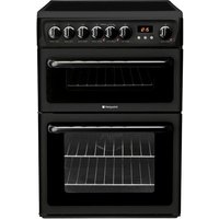 HOTPOINT HAE60KS Electric Ceramic Cooker - Black, Black
