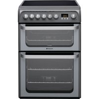 HOTPOINT Ultima HUE61GS 60 cm Electric Ceramic Cooker - Graphite, Graphite