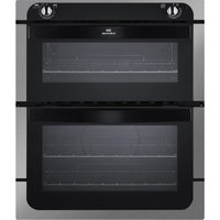 NEW WORLD NW701DO Electric Built-under Double Oven - Black & Stainless Steel, Stainless Steel