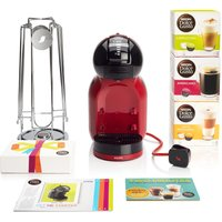 DOLCE GUSTO by Krups Mini Me KP120BUN Hot Drinks Machine Starter Pack - Red, Red