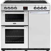 BELLING Gourmet 90E PROF STA 90 cm Dual Fuel Range Cooker - Stainless Steel, Stainless Steel