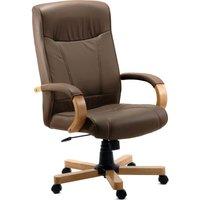 TEKNIK 85 Series 8511HLWBN Bonded-leather Reclining Executive Chair - Richmond Brown, Brown