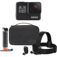 GoPro HERO7 Black Action Camera & Adventure Accessory Kit Bundle, Black