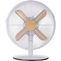 """RUSSELL HOBBS RHMDF1201WDW 12"""" Desk Fan - White, White"""
