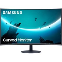 """SAMSUNG LC24T550FDUXEN Full HD 24"""" Curved LED Monitor - Grey"""