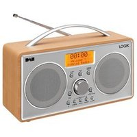 'Logik L55dab15 Portable Dab+/fm Radio - Silver & Wood
