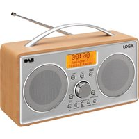 Click to view product details and reviews for Logik L55dab15 Portable Dabﱓ Clock Radio Silver Wood Silver.