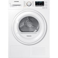 SAMSUNG DV80M50101W/EU 8 kg Heat Pump Tumble Dryer - White, White