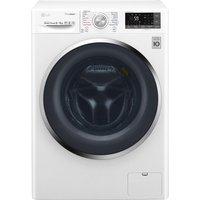 LG Washer Dryer J 8 Series F4J8FH2W Smart 9 kg  - White, White