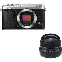 Fujifilm X-e3 Mirrorless Camera & Fujinon Xf 35 Mm F/2.0 R Wr Standard Prime Lens Bundle - Silver, Silver