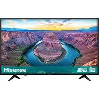 50 Hisense H50ae6100uk Smart 4k Ultra Hd Hdr Led Tv, Gold