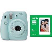 INSTAX mini 9 Instant Camera & Mini Film 50 Shot Bundle - Ice Blue, Blue